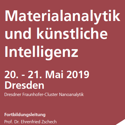 Happy New Year 2019: Continuing education on material analytics and artificial intelligence (AI) in May